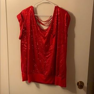 Sequined Red top